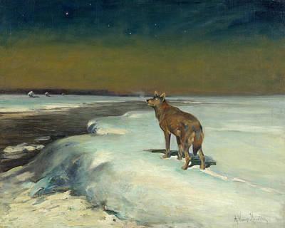 In February Print by Alfred Wierusz-Kowalski