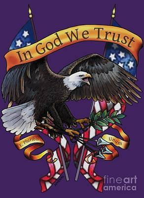 Digital Art - In God We Trust by Joseph Juvenal