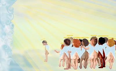Angel Digital Art - In God's Presence by Chere Lei