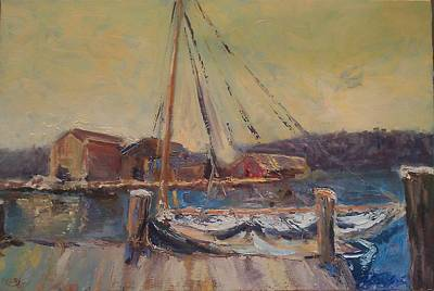 Painting - In Harbour by Brent Moody