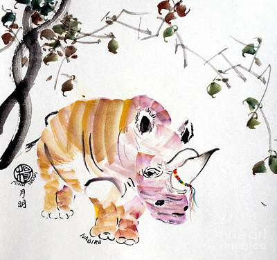 Poachers Painting - In Honour Of Nabire's Life by Ming Yeung