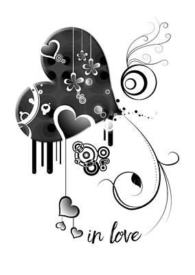 In Love Print by Melanie Viola