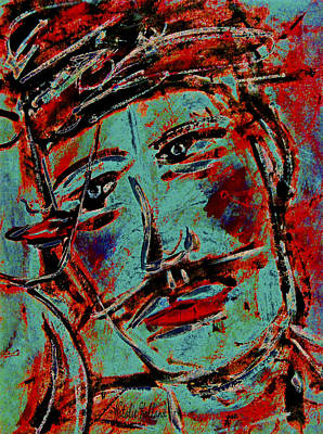 Women Together Mixed Media - In Love by Natalie Holland