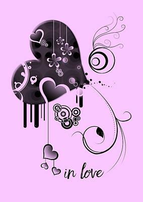In Love Pink Print by Melanie Viola