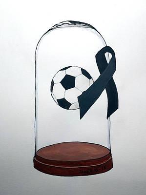 In Memory Of Brazil Chapecoense Soccer Team Print by Edwin Alverio