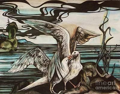 In Memory Of Deceased Friend. Print by Anna  Duyunova