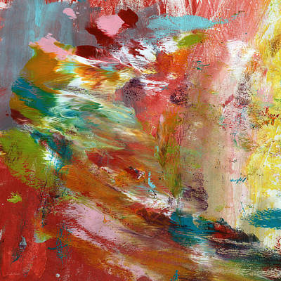In My Dreams- Abstract Art By Linda Woods Print by Linda Woods