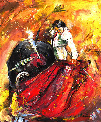 Spanish Matador Painting - In Passing by Miki De Goodaboom