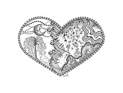 Repaired Heart Print by Ana V  Ramirez