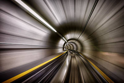 Tunnel Photograph - In by Sergei Ustinov