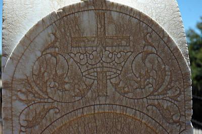 Angel Photograph - In Stone Cross And Crown Virginia City Nv by LeeAnn McLaneGoetz McLaneGoetzStudioLLCcom