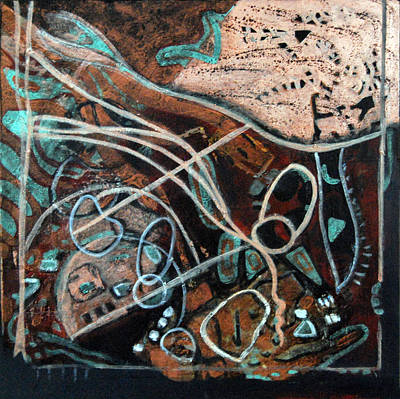 Copper Color Painting - In The Beginning by Rosalyn Stevenson