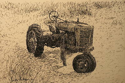 Drawing - In The Dunes by Terry Perham