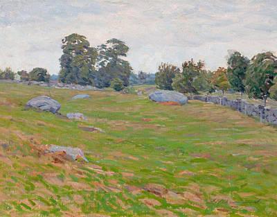 Painting - In The Fields by Edward Herbert Barnard