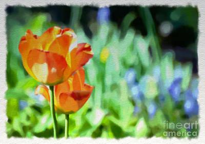 Watercolor Photograph - In The Garden 2 - Watercolor by Kerri Farley