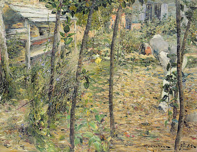 In The Garden Print by Charles Angrand
