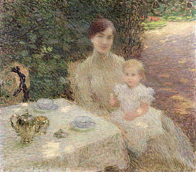 Maternity Painting - In The Garden by Ernest Joseph Laurent