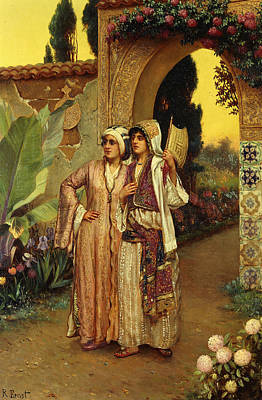 In The Garden Of The Harem Print by Rudolphe Ernst
