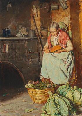 In The Kitchen Print by Giuseppe Giardiello