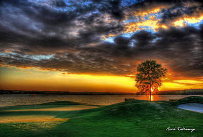 Tiger Woods Photograph - In The Limelight The Landing Reynolds Plantation by Reid Callaway