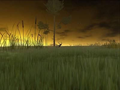 Heron Digital Art - In The Marsh by Phil Vooz