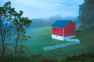 In The Midst Of The Mist Print by Todd Klassy