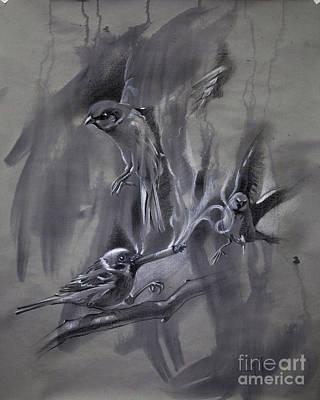 Odd Painting - In The Mist Of Modernization 2 by Raj Maji