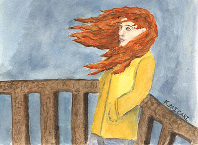 Windblown Painting - In The Moment by Kat Micari