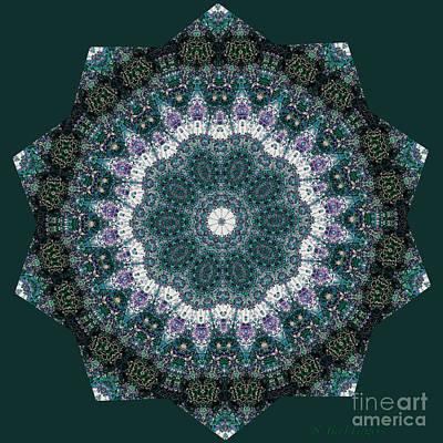 Beautiful Digital Art - In The Moment Mandala by Sandra Gallegos