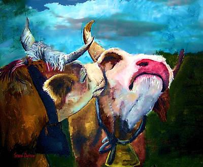 Nashville Painting - In The Mooooood by Stevn Dutton