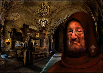 In The Name Of The Rose - Homage To Umberto Eco Original by Daniel Arrhakis