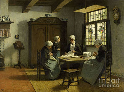 Adolph Painting - In The Orphanage At Katwijk-binnen by Celestial Images