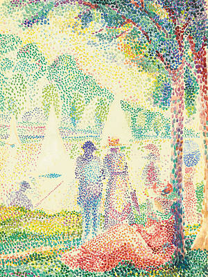 Dot Painting - In The Park by Hippolyte Petitjean