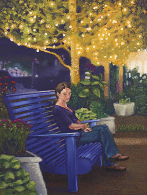 Park Scene Drawing - In The Park by Kristy Alcala