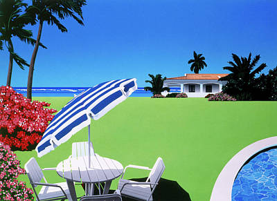 Swimming Pool Photograph - In The Shade by David Holmes