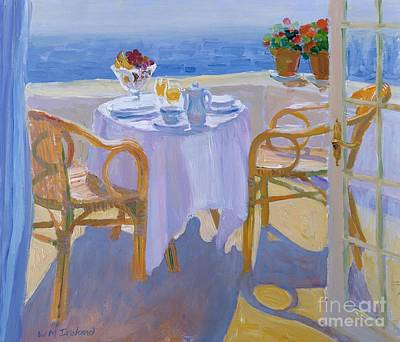 Blue Table Painting - In The South  by William Ireland