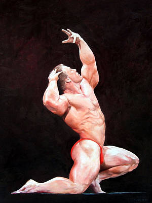 Bodybuilding Painting - In The Spotlight by David Lajoie
