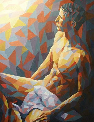 Male Nude Painting - Full Of Dreams by Mats Eriksson