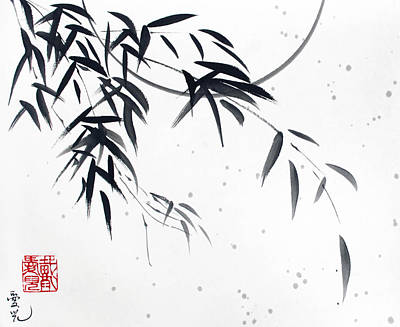 Bamboo Painting - In The Still Of The Night by Oiyee At Oystudio