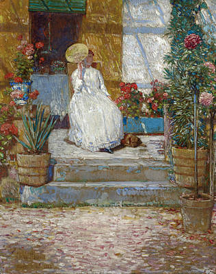 Childe Hassam Painting - In The Sun by Childe Hassam