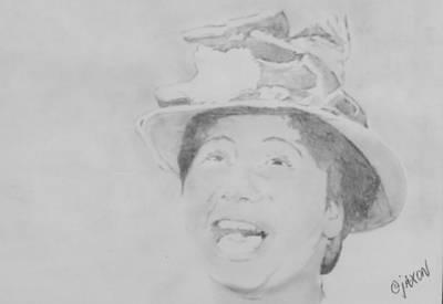 Mahalia Jackson Drawing - In The Upper Room by B Jaxon