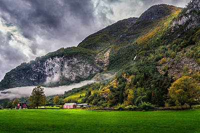 Autumn Scene Photograph - In The Valley by Dmytro Korol