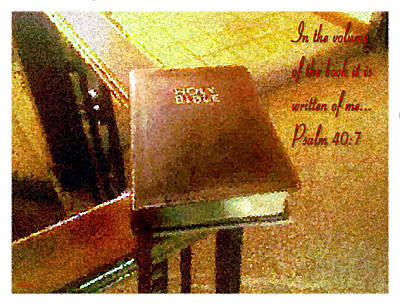 New Testament Digital Art - In The Volume Of The Book by Glenn McCarthy Art and Photography