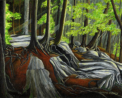 In The Woods Original by Brigitte  Meskey