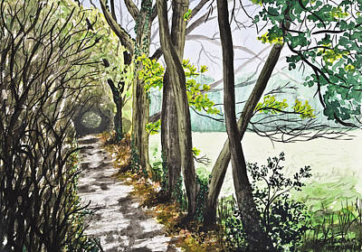 In The Woods Print by Svetlana Sewell