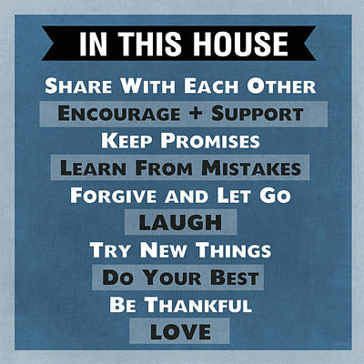 In This House Print by Linda Woods