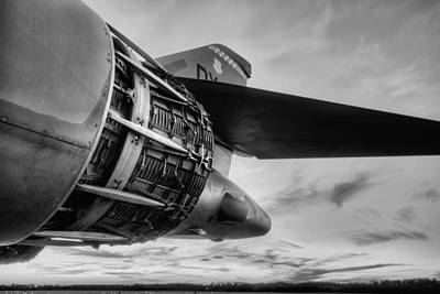 B1b Photograph - In Thrust We Trust Black And White by JC Findley