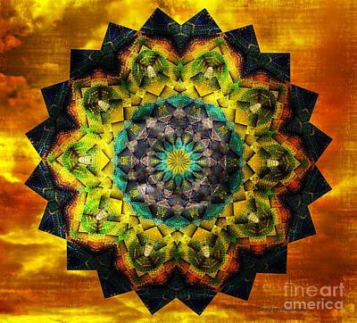 Beautiful Digital Art - In Tune Mandala by Sandra Gallegos