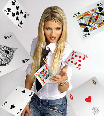 Poker Photograph - In Your Face by Dean Bertoncelj