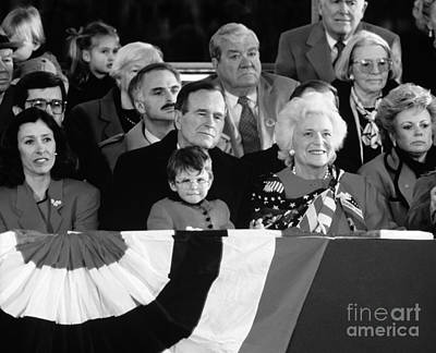 George Bush Photograph - Inauguration Of George Bush Sr by H. Armstrong Roberts/ClassicStock